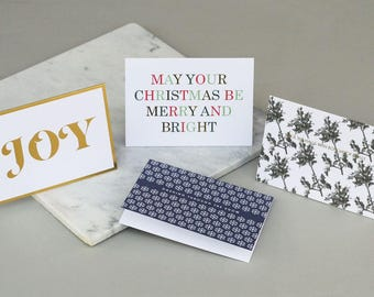 Mixed set of Christmas cards - Six