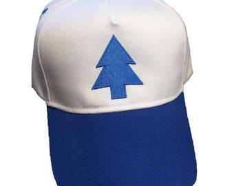 Dipper Pines Blue Pine Tree Gravity Falls Cosplay Embroidered Hat
