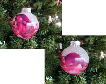 Hand Crafted Christmas Ornament (Pink and Purple)