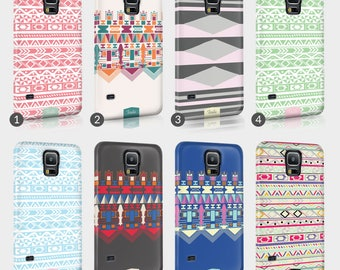 Aztec Ethnic Trend Tribal Phone Case For Samsung 3D Full Wrap Hard Cover Gift Cover Fashion