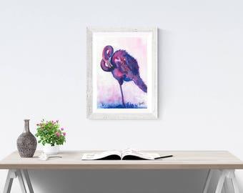 flamingo art, *Digital, flamingo art, pink flamingos, flamingo painting, flamingo watercolor, flamingo decor, gift ideas, wall art