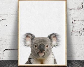 Bébé douche cadeau, Koala ours Print, pépinière Animal, imprimable Téléchargement instantané, , chambre d'enfant, affiche moderne