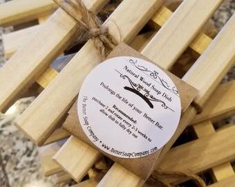 Handmade Natural Wood Soap Dishes