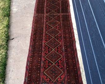 2'2x9'8 Balouch Sumak Wool Vintage Runner