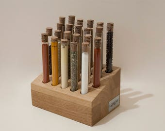 Test tube spice set! Spice rack with 22 test tubes and corks!