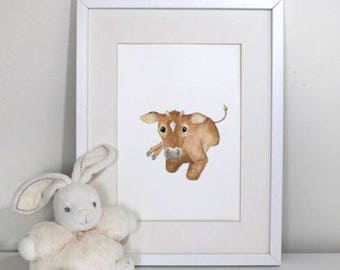 Farm nursery prints - Gorgeous baby calf