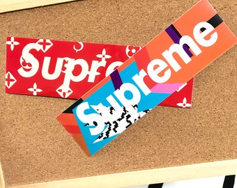 Supreme Box Logo Laptop Stickers
