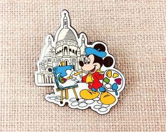 Disney Mickey Mouse Pin Paris Painting Ease Artist Rare Collector