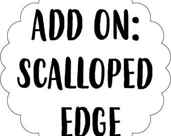 Scallop Edged Wood Name Sign | Custom Scallop Edge Name Sign