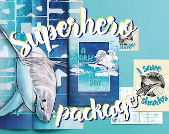 Ein Hai A Tag   Illustrierte Hai Buch. Spenden 50 % Unserer Ozeane Zu Retten