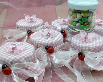 CANDY JARS /Christening/Baby shower 5 pieces jars/Favours/