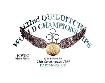 T-SHIRT: Harry potter / World Quidditch Championship - Classic T-Shirt & Ladies Fitted Tee - (LazyCarrot)