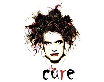T-SHIRT: The Cure / Robert Smith - Classic T-Shirt & Ladies Fitted Tee - (LazyCarrot)