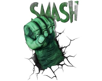 T-SHIRT: Hulk / The Avenger - Classic T-Shirt & Ladies Fitted Tee - (LazyCarrot)