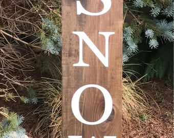 WINTER PORCH SIGN/Let it Snow Porch Sign/Winter Decor/Snow Sign/Winter Sign/Snowman Porch board/Snowman Sign