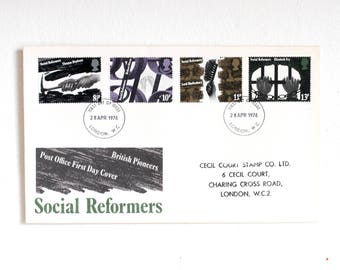 First  Day Cover 1979 social reformers 1976 , First day of issue social reformers 1976