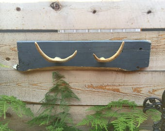 Reclaimed Wood and Antler Hanger