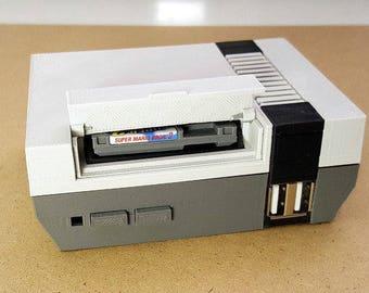 Megabit NES Case M3, Daftmike NFC kit compatible, Designed For Raspberry Pi 2/3b