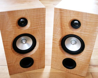 Custom Curly Maple & Cherry Loudspeakers