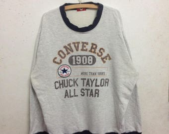Vintage 90's Converse All Star Sweatshirts Size 3L