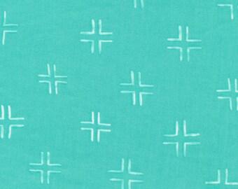 Fabric-Quilting Cotton-Trellis in Turquoise - Cloud9 Fabrics