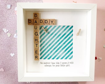 Daddy & Daughter Scrabble Frame | Gift for Him | Gift for Dad | Dad Frame | Father's Day Gift | New Dad Gift | Gift from Daughter | Unique