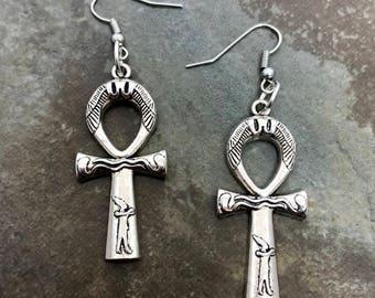 Egyptian Ankh dangle earrings