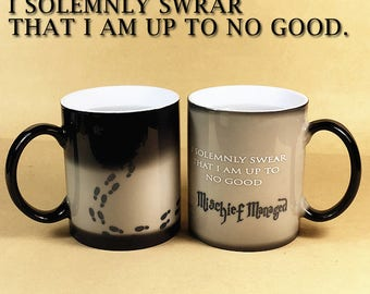 Color Changing Mugs| Mischief Managed Magic Mug