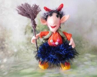 Knitted doll Baba Yaga
