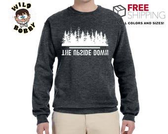 Upside Down | Stranger Things Inspired | Unisex Crewneck Graphic Sweatshirt