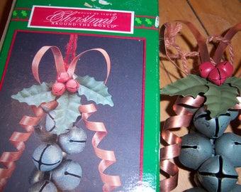 Vintage House of Lloyd Christmas Around the World Jingle Bells Metal In Original Box