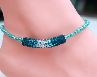 Hippie anklet for her, anniversary gift