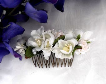 flower hair clip accessory Bridesmaid headpiece Bridesmaid hair clip flowerBridesmaids hair comb, SucculeFlower accessoriesnt and rose hair