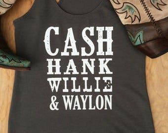 Cash, Hank, Willie & Waylon.