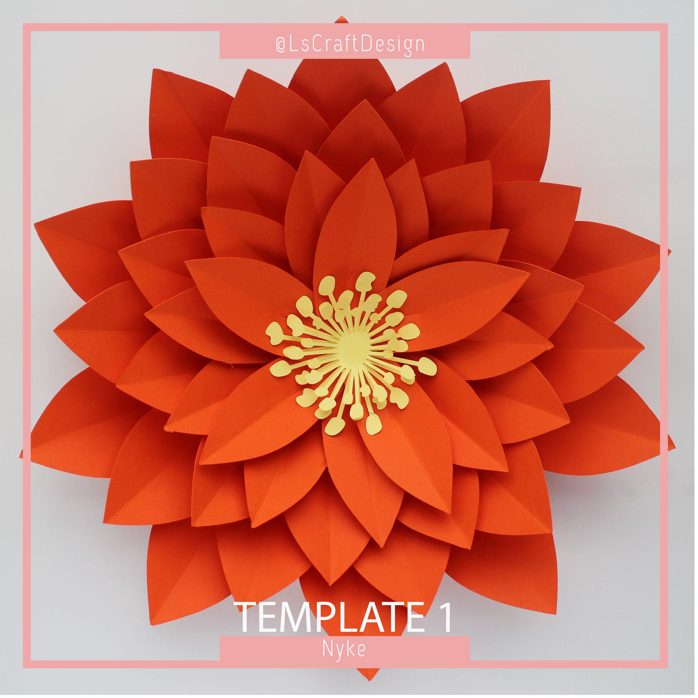 Paper Flower Template Diy Paper Flower Giant Paper Flower