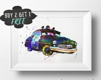 Cars Room Decor, The Sheriff Cars Nursery Decor, Cars Silhouette, Cars Clipart Poster Printable Wall Art Print Download, Cars Playroom Decor