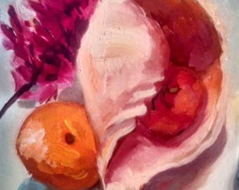 Shell and orange