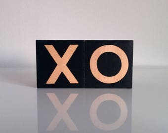 XO Baby Blocks . Monochrome Nursery Decor . Wooden Baby Blocks . Wooden Nursery Decor . Black Nursery Decor . Monochrome Decor