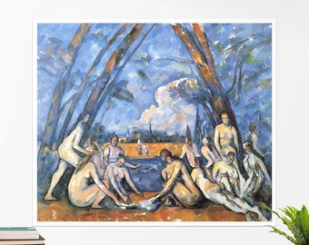 "Paul Cézanne, ""Bathers"". Art poster, art print, rolled canvas, art canvas, wall art, wall decor"