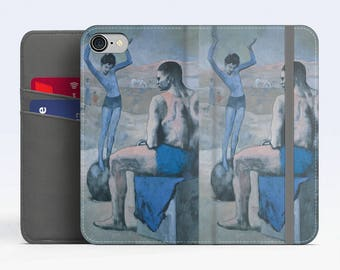 "Pablo Picasso, ""Girl on the Ball"". Samsung S8 Wallet case. Galaxy S7 wallet case. Samsung Galaxy S6 wallet case. iPhone Wallet cases."