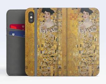 """Gustav Klimt, """"Portrait of Adele Bloch-Bauer"""". iPhone X Wallet case iPhone 8 Wallet case  iPhone 7 Plus Wallet case. Samsung Wallet cases."""