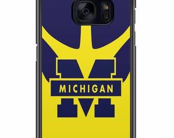 Custom Michigan Wolverines Phone Case for Samsung Galaxy S8 S8 Plus Apple Iphone 6 6s plus 7 plus  S7 S7 edge