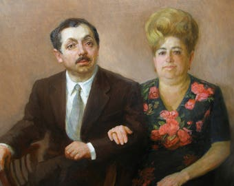 couple portrait oil portrait from photo Custom Portrait Painting Oil Painting Child Portrait Family Wedding Portrait From Photo