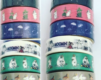 Moomin Washi Tape - 3 designs available!!