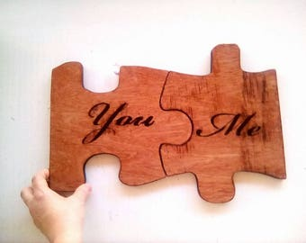 Puzzle piece wedding etsy easter gift personalised gift wedding gift husband gift wife gift birthday negle Image collections