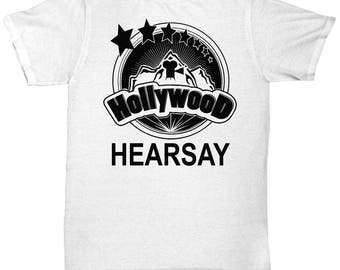 Hollywood Hearsay T Shirt - Cool Graphic Design Tee Shirt