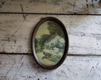 Vintage Farmhouse Picture / Vintage Cottage Picture / Vintage Wall Decor / Farmhouse Decor / Cottage Decor / Antique Pictures / Shabby Chic