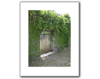 Garden Gate Picture - Gate Prints - 11 x 14
