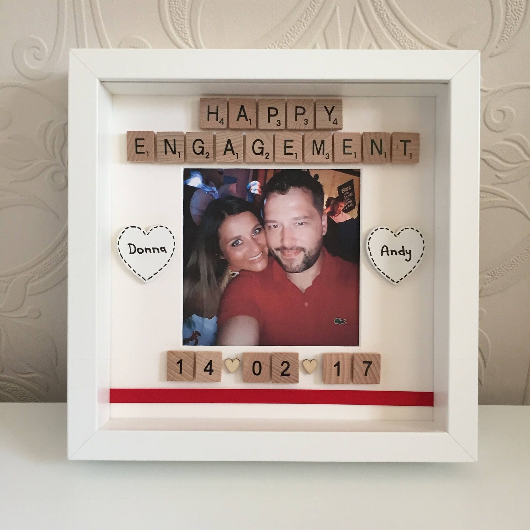 Personalised Happy Engagement Frame, Engagement Picture Frame ...