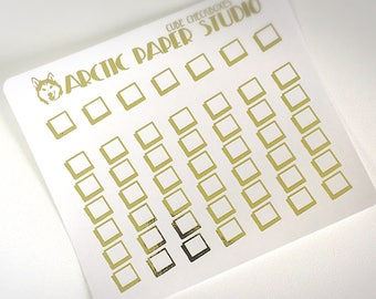Cube Checkboxes - FOILED Sampler Event Icons Planner Stickers